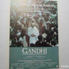 Foglietti di film di film antichi di cinema: PROGRAMA MODERNO GANDHI - BEN KINSLEY. Lote 112938411