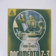 Cinema - DOCUMENTO Z-3. DOBLE CON PUBLICIDAD - 112955631