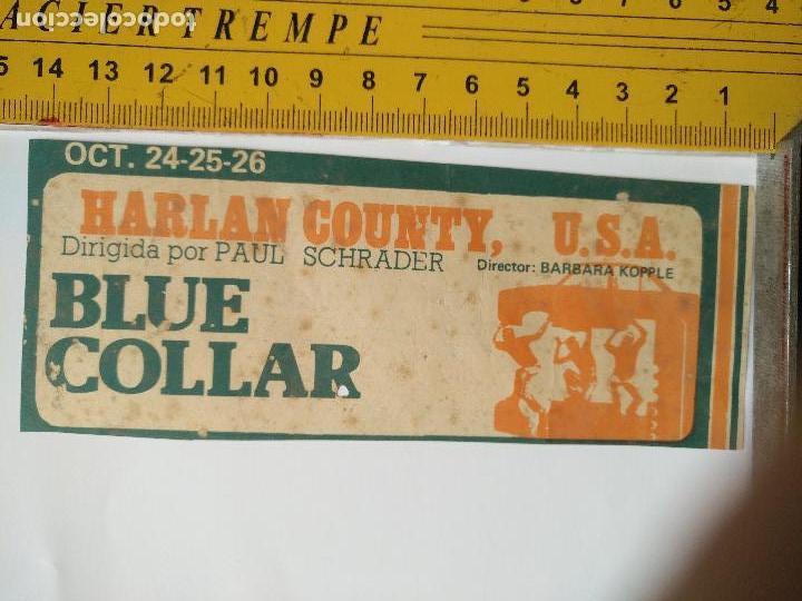 LEER BIEN - RECORTE EXTRENO CINE - PUBLICIDAD - USA , BLUE COLLAR POR PAUL SCHRADER BARBARA KOPPLE (Cine - Folletos de Mano - Clásico Español)