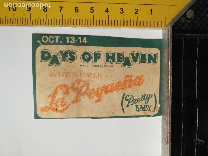 LEER BIEN - RECORTE EXTRENO CINE - PUBLICIDAD - DAYS OF HEAVEN, LA PEQUEÑA PRETTY BABY LOUIS MALLE (Cine - Folletos de Mano - Clásico Español)