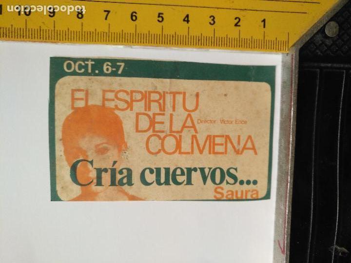 LEER BIEN - RECORTE EXTRENO CINE - PUBLICIDAD - EL ESPIRITU DE LA COLMENA, CRIA CUERVOS ... SAURA (Cine - Folletos de Mano - Clásico Español)