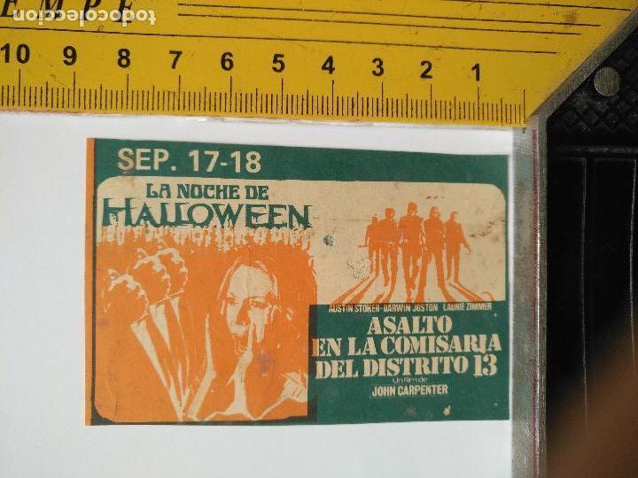 LEER BIEN - RECORTE EXTRENO CINE PUBLICIDAD LA NOCHE DE HALLOWEEN ASALTO COMISARIA 13 JOHN CARPENTER (Cine - Folletos de Mano - Clásico Español)