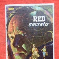 Cine: RED SECRETA, IMPECABLE SENCILLO, H. FELMY J. VON KOGZIAN, CON SELLO CINE AVENIDA. Lote 112997535