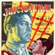 Folhetos de mão de filmes antigos de cinema: PROGRAMA DE CINE. JUICIO FINAL. Lote 113056223