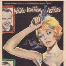 Cine: LA MISTERIOSA DAMA DE NEGRO CON KIM NOVAK, JACK LEMMON, FRED ASTAIRE AÑO 1963 CINEMA LA RAMBLA. Lote 113106571