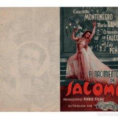 Cine: PROGRAMA DOBLE EL NACIMIENTO DE SALOME -- CONCHITA MONTENEGRO. Lote 113112515