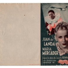 Cine: PROGRAMA LA FUERZA BRUTA- JUAN DE LANDA- MARIA MERCADER. Lote 113115347