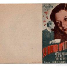 Cine: PROGRAMA DE CINE DOBLE - SU MAYOR AVENTURA - SIN PUBLICIDAD - INTERNACIONAL FILMS, AÑOS 30 . Lote 113116135