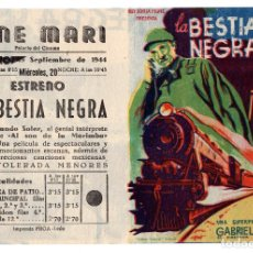Cine: PROGRAMA DOBLE DE CINE: LA BESTIA NEGRA. Lote 113116531