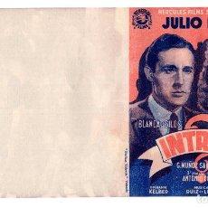 Cine: PROGRAMA DOBLE *INTRIGA* JULIO PEÑA BLANCA DE SILOS MANOLO MORÁN. ANTONIO ROMÁN. SIN PUBLICIDAD . Lote 113116683