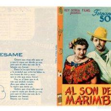 Cine: AL SON DE LA MARIMBA. DOBLE DE REY SORIA FILMS . Lote 113118947