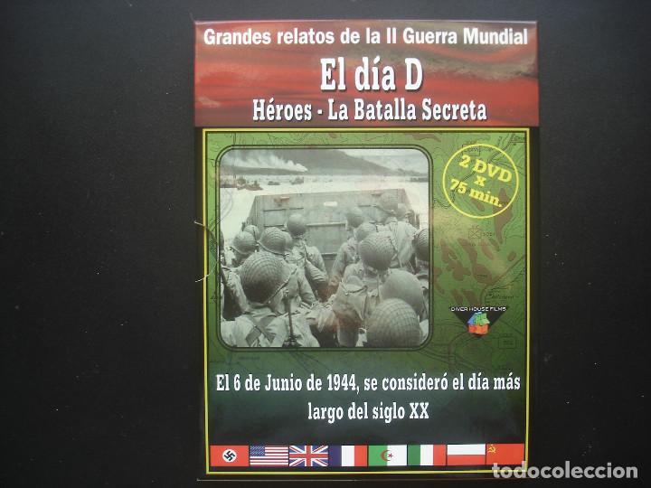 EL DIA D. HÉROES - LA BATALLA SECRETA. GRANDES RELATOS DE LA II GUERRA MUNDIAL (Cine - Folletos de Mano - Documentales)