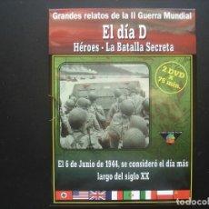 Cine: EL DIA D. HÉROES - LA BATALLA SECRETA. GRANDES RELATOS DE LA II GUERRA MUNDIAL. Lote 113228083