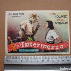 Cine: INTERMEZZO. 1952. FOLLETO ,,,BUENO,,,. Lote 113379843