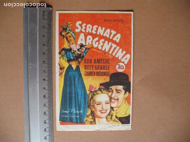 SERENATA ARGENTINA (Cine - Folletos de Mano - Comedia)