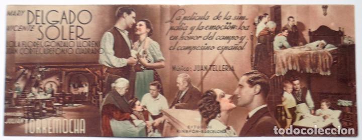 Cine: Alcoy (Alicante) Teatro Principal programa de cine un Alto en el camino años 40 díptico - Foto 2 - 113388427