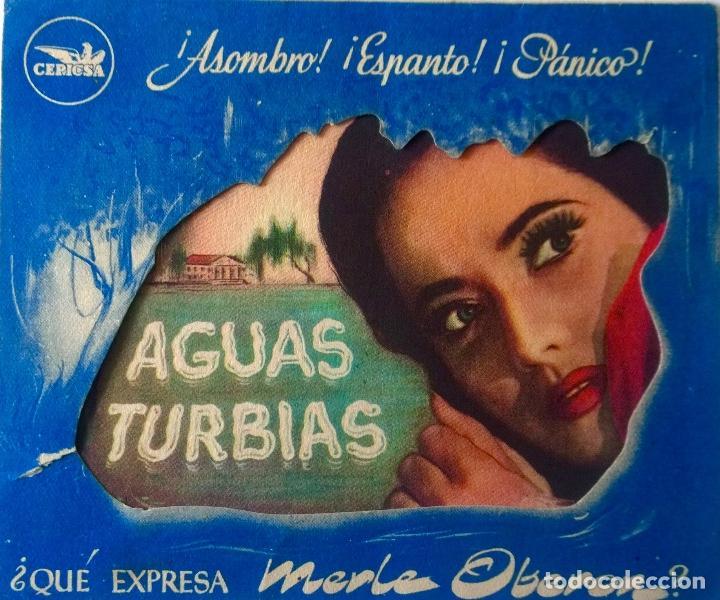 AGUAS TURBIAS- DOBLE TROQUELADO (Cine - Folletos de Mano - Terror)