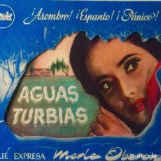Cine: AGUAS TURBIAS- DOBLE TROQUELADO. Lote 113412111