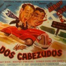 Cine: DOS CABEZUDOS- BUD ABBOTT Y LOU COSTELLO- . Lote 113424463