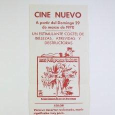 Cine: PROGRAMA DE CINE LOCAL MÚLTIPLE - MÁS PELIGROSAS TODAVÍA / UN HOMBRE... - CINE NUEVO, BADALONA, 1970. Lote 113468079