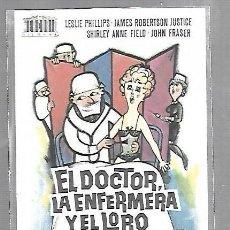 Cine: PROGRAMA DE CINE. S/P. EL DOCTOR, LA ENFERMERA Y EL LORO. Lote 113550259