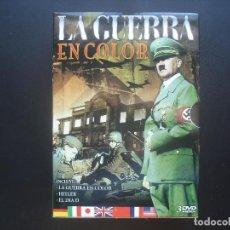 Flyers Publicitaires de films Anciens: LA II GUERRA MUNDIAL EN COLOR. PACK 3 DVD. Lote 113595311