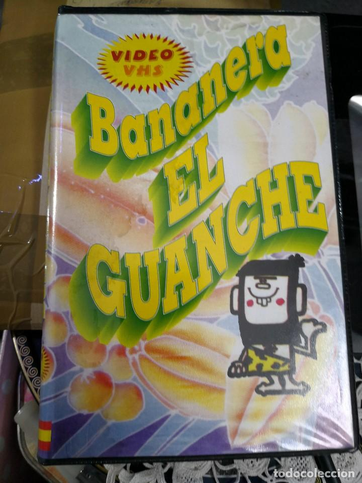 VIDEO VHS AÑO 1995 BANANERA EL GUANCHE MÁS LIBRO DE REGALO (Cine - Folletos de Mano - Documentales)