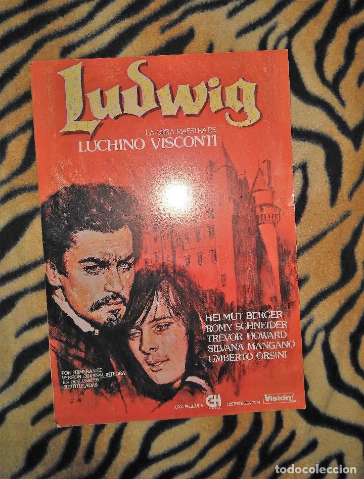 CARTEL DE MANO CINE 21X31CM LUDWIG LUCHINO VISCHONTI (Cine - Folletos de Mano - Musicales)