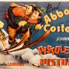 Cine: PISTOLEROS SIN PISTOLAS- BUD ABBOTT Y LOU COSTELLO-TAMAÑO GRANDE-PRINCIPAL Y CAMPOS (SABADELL). Lote 113648707