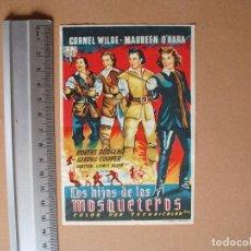 Cine: LOS HIJOS DE LOS MOSQUETEROS,- 1950. Lote 113664223