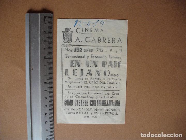 Cine: EN UN PAIS LEJANO,-1959 - Foto 2 - 113667167