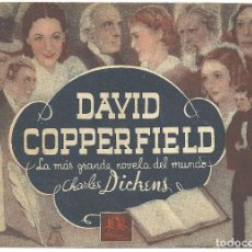 Cine: DAVID COPPERFIELD PROGRAMA DOBLE MGM CHARLES DICKENS W.C. FIELDS LIONEL BARRYMORE MAUREEN O'SULLIVAN. Lote 113842031