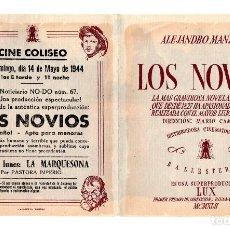 Cine: LOS NOVIOS - DINA SASSOLI, GINO CERVI - CINE COLISEO. Lote 113862707
