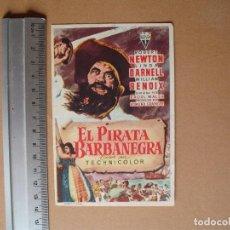 Cine: EL PIRATA BARBANEGRA - 1951. Lote 113893363