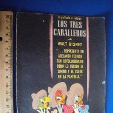 Cine: (PG-180313)PROGRAMA DE CINE LOS TRES CABALLEROS - WALT DISNEY. Lote 113948179