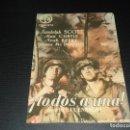 Cine: PROGRAM DE MANO ORIGINAL - TODOS A UNA- COLISEO CASTILLA - ( PEDIDO MINIMO 5 EUROS ). Lote 114016479