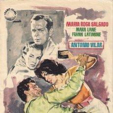 Cine: 5 FOLLETOS DE MANO - CINE DORADO ZARAGOZA - HISTORIAS DE LA FERIA, LA MUJER X + 3 - (1955/56/58/59).. Lote 114049331