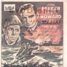 Cine: 5 FOLLETOS DE MANO - CINE GOYA ZARAGOZA - LA CASA DE LA COLINA, LA DAMA MARCADA + 3 - (1953/54/56).. Lote 114051699