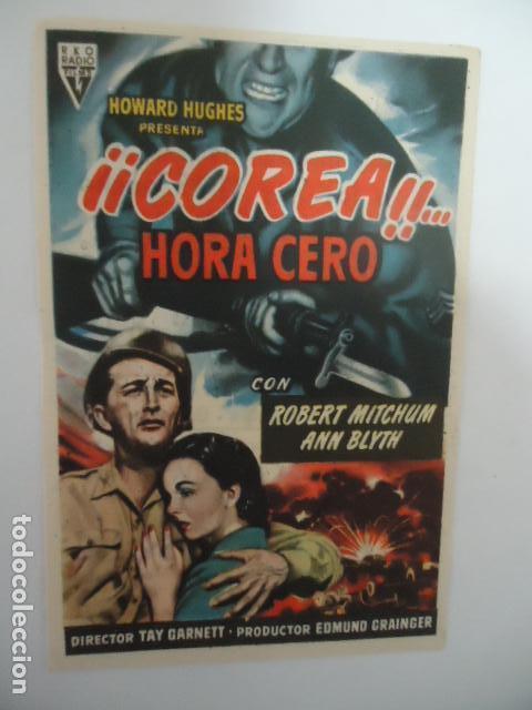¡¡COREA¡¡...HORA CERO- CINE CORDOBA- LINARES - JAEN - IMP.SAN JOSE LINARES 1954 (Cine - Folletos de Mano - Bélicas)