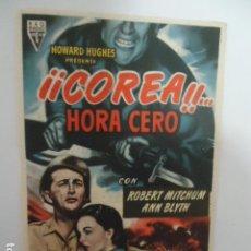 Cine: ¡¡COREA¡¡...HORA CERO- CINE CORDOBA- LINARES - JAEN - IMP.SAN JOSE LINARES 1954. Lote 127120187