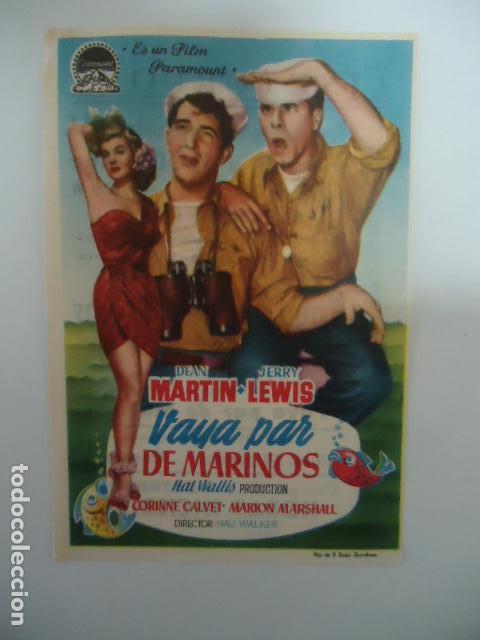 VAYA PAR DE MARINOS- CINE CORDOBA- LINARES - JAEN - IMP.SAN JOSE LINARES 1954 (Cine - Folletos de Mano - Bélicas)