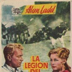 Cine: 5 FOLLETOS DE MANO - CINE DORADO ZARAGOZA - LA LEGIÓN DEL DESIERTO + 4 - (1954, 55, 56, 57).. Lote 114103311