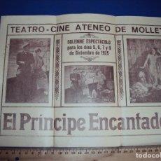 Cine: (PG-180349)PROGRAMA DE CINE EL PRINCIPE ENCANTADOR - AÑO 1925 - CINE ATENEO DE MOLLET. Lote 114163739