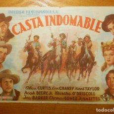 Cine: FOLLETO DE MANO - DOBLE - CASTA INDOMABLE - PICAROL - 3 DE DICIEMBRE DE 1946 -. Lote 114170887