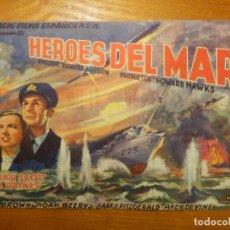 Cine: FOLLETO DE MANO - DOBLE - HEROES DEL MAR - EUTERPE - 30 DE OCTUBRE DE 1945 -. Lote 114171351