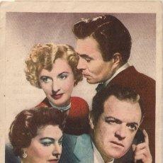Cine: 5 FOLLETOS DE MANO - CINE DORADO ZARAGOZA - MUNDOS OPUESTOS + UN PASO EN FALSO + 3 (1951/54/55/56).. Lote 114210815