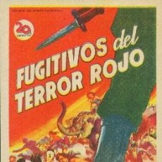 Cine: FUGITIVOS DEL TERROR ROJO (CON PUBLICIDAD). Lote 114216111
