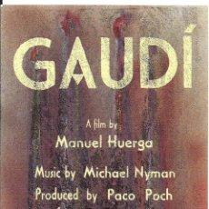 Cine: GAUDI PROGRAMA SENCILLO MIPCOM FESTIVAL MANUEL HUERGA. Lote 143153138