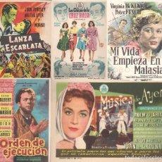 Cine: 6 FOLLETOS DE MANO - CINE COSO ZARAGOZA - LAS CHICAS DE LA CRUZ ROJA, ORDEN DE EJECUCIÓN + 4 (1959).. Lote 114266847