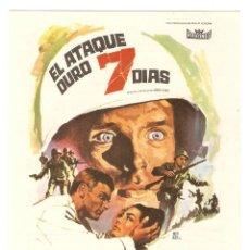 Cine: EL ATAQUE DURÓ 7 DÍAS - KEIR DULLEA, JACK WARDEN, JAMES PHILBROOK - ANDREW MARTON - MONTALBÁN. Lote 114278047